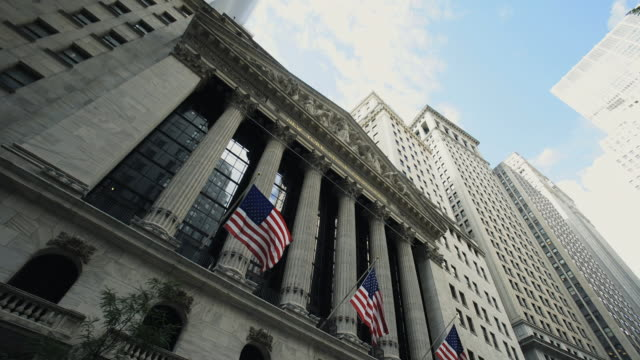 vidéos et rushes de wall street stock exchange - bourse de new york