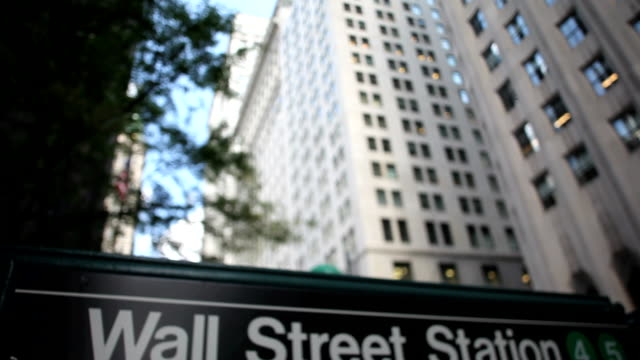 wall street subway sign - new york stock exchange stock videos and b-roll footage