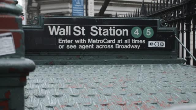 wall street subway station - wall street video stock e b–roll