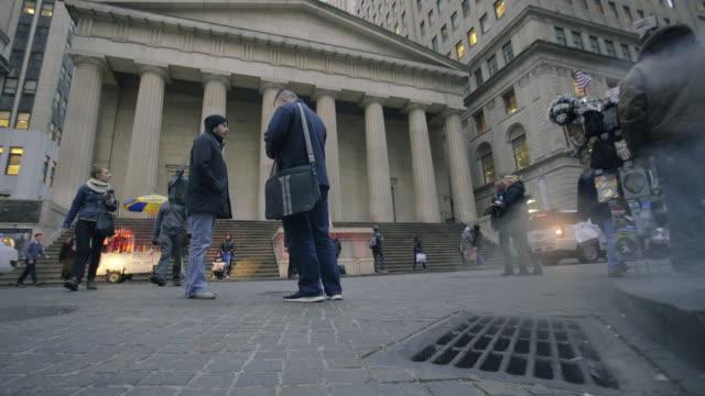 wall street - sidewalk gutter stock videos & royalty-free footage