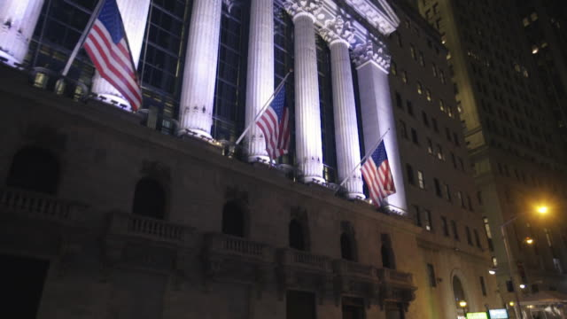 wall street - new york stock exchange stock videos and b-roll footage