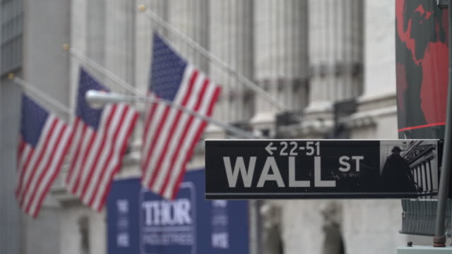 vidéos et rushes de wall street - bourse de new york