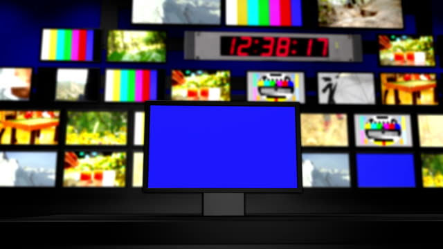 stockvideo's en b-roll-footage met tv wall - regelkamer