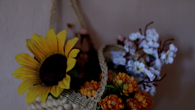 wall wedding flowers - sunflower stock videos and b-roll footage