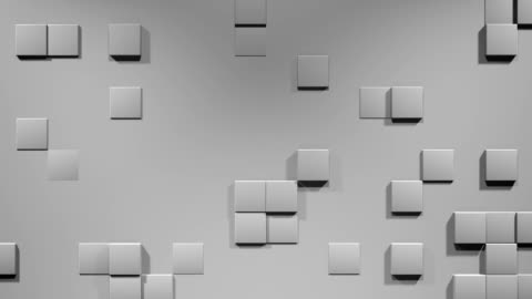 wall with cubes - emergence stock videos & royalty-free footage