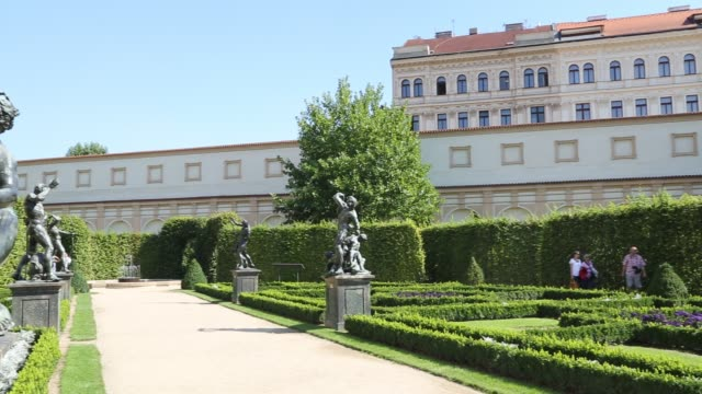 wallenstein palace gardens prague - mala strana stock videos and b-roll footage