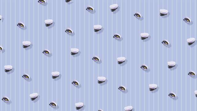 wallpaper with a pattern of swedish graduation hats - graduation stock videos & royalty-free footage