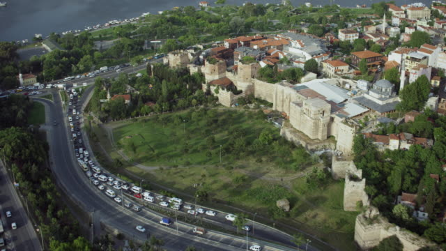 walls of constantinople in istanbul - istanbul stock videos & royalty-free footage