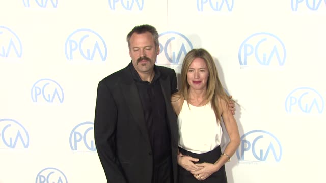 vidéos et rushes de wally pfister, rachael horovitz at the 23rd annual producers guild awards on 1/21/12 in beverly hills, ca - producer's guild of america awards