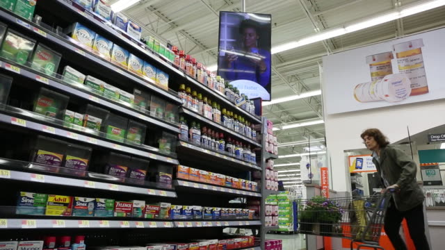 walmart inc store in secaucus new jersey us on wednesday may 16 2018 - cart stock videos and b-roll footage