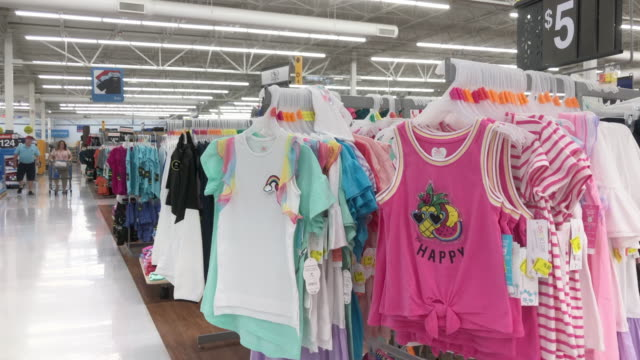 walmart super shopping center in north georgia walmart inc is an american multinational retail corporation that operates a chain of hypermarkets... - clothing stock videos & royalty-free footage