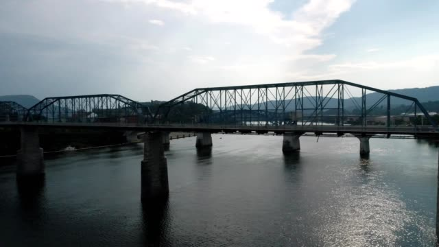 walnut street bridge in chattanooga, tn - chattanooga stock videos and b-roll footage