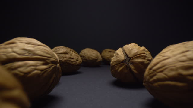 walnuts macro - nutshell stock videos & royalty-free footage