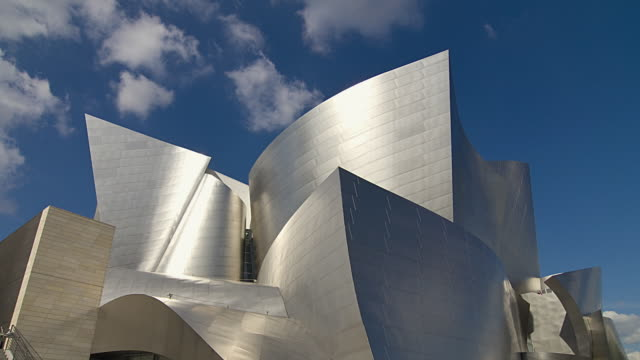 t/l ms la walt disney concert hall, los angeles, california, usa - 灰色 個影片檔及 b 捲影像