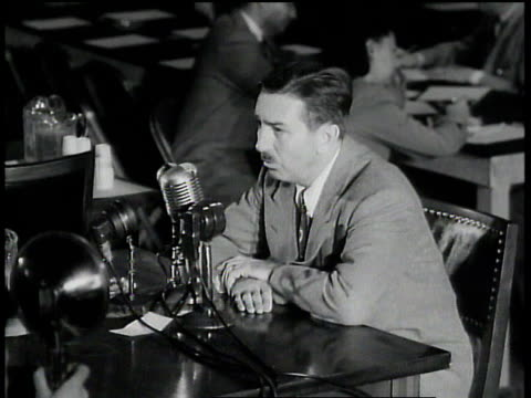 "walt disney saying how he sold ""three little pigs"" to ussr and then they gave them back because the films didn't serve their purposes - anno 1947 video stock e b–roll"