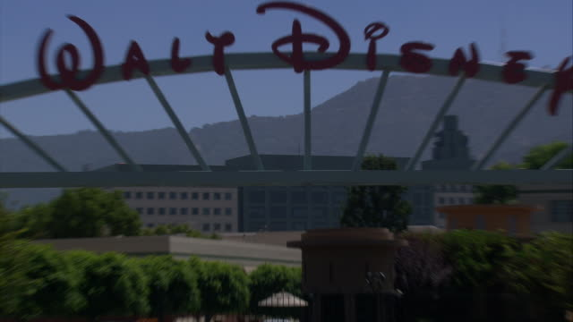 ms walt disney studios gateway / hollywood, california, united states. - burbank stock-videos und b-roll-filmmaterial