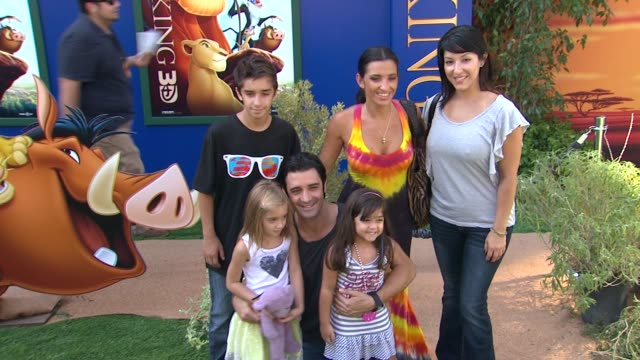 walt disney studios presents the world premiere of the lion king 3d, los angeles, ca, united states, 8/27/11 - antonio sabato jr. stock videos & royalty-free footage