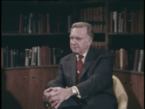 walter cronkite discusses the berlin airlift during an interview. - cold war stock videos & royalty-free footage