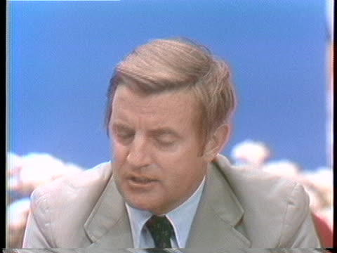 walter mondale discusses his reasons for withdrawing from the presidential race. - united states and (politics or government) stock videos & royalty-free footage