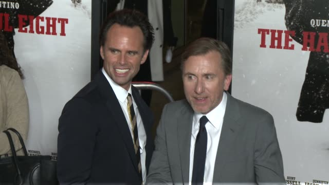 """walton goggins and tim roth at """"the hateful eight"""" world premiere at arclight cinemas on december 07, 2015 in hollywood, california. - arclight cinemas hollywood stock-videos und b-roll-filmmaterial"""
