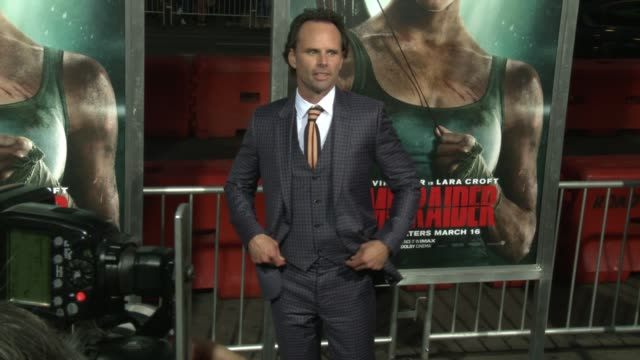 Walton Goggins at the 'Tomb Raider' Premiere at TCL Chinese Theatre on March 12 2018 in Hollywood California