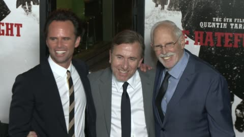 """walton goggins, tim roth, and bruce dern at """"the hateful eight"""" world premiere at arclight cinemas on december 07, 2015 in hollywood, california. - arclight cinemas hollywood stock videos & royalty-free footage"""