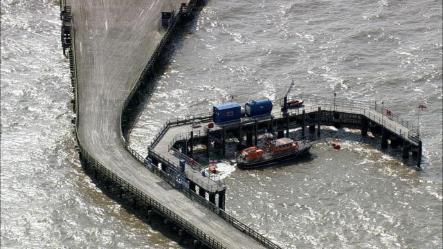 walton-on-the-naze - aerial view - england, essex, maldon district, united kingdom - pier stock videos & royalty-free footage