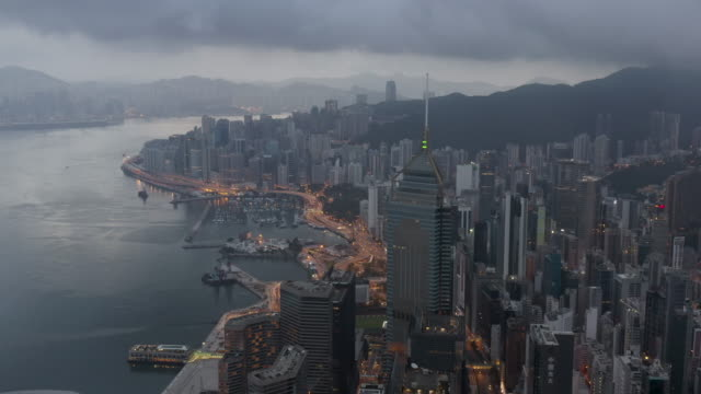 wan chai hong kong dawn - wanchai stock videos and b-roll footage