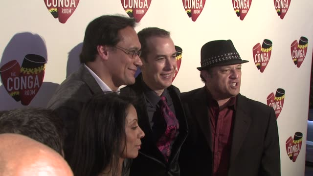 wanda de jesus jimmy smits brad gluckstien paul rodriguez at the conga room grand opening at los angeles ca - jimmy smits stock videos and b-roll footage
