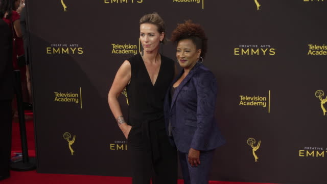 wanda sykes and alex sykes at the 2019 creative arts emmy awards day 1 at microsoft theater on september 14 2019 in los angeles california - wanda sykes stock videos and b-roll footage