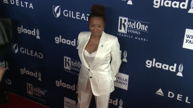 wanda sykes at 29th annual glaad media awards los angeles in los angeles ca - wanda sykes stock videos and b-roll footage