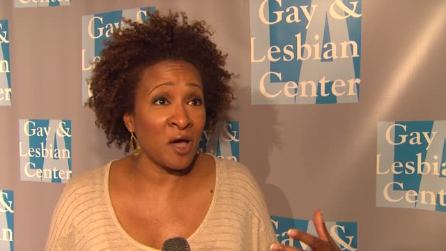 wanda sykes on supporting tonight's event and on obama supporting gay marriage at la gay lesbian center's an evening with women on 5/19/12 in los... - wanda sykes stock videos and b-roll footage