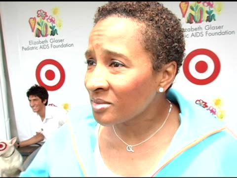wanda sykes on why the cause is important to her at the target 'a time for heros' celebrity carnival to benefit the elizabeth glaser pediatric aids... - wanda sykes stock videos and b-roll footage