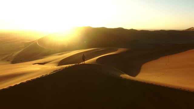Wandering the desert at dawn