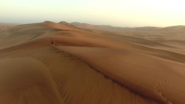 wandering the desert - namibian desert stock videos and b-roll footage