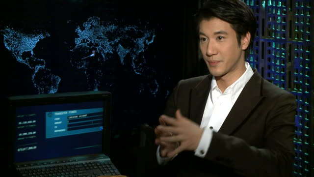 stockvideo's en b-roll-footage met interview wang leehom talks about yorik van wageningen dividing his time between music and movies working with director michael mann and talks about... - van