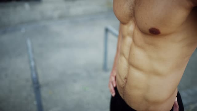 want  body like this? put the time in - abdominal muscle stock videos & royalty-free footage