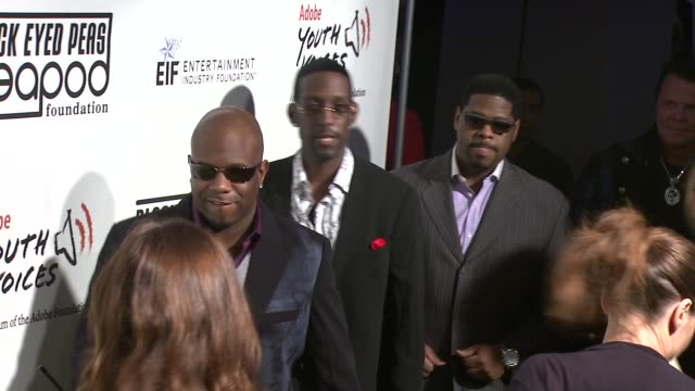 wanya morris shawn stockman and nathan morris of boyz ii men at the 5th annual black eyed peas peapod foundation benefit concert at los angeles ca - benefit concert stock videos & royalty-free footage