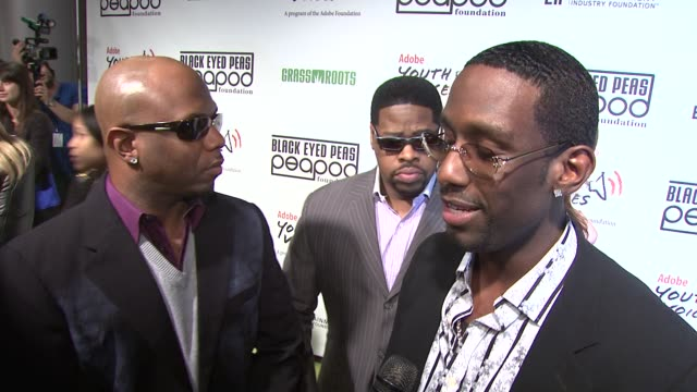 wanya morris shawn stockman and nathan morris of boyz ii men on the importance of attending tonight's event on the proceeds from the event being... - benefit concert stock videos & royalty-free footage