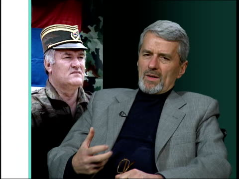 handover of ratko mladic demanded; england: london: int dr zoran pajic interviewed sot - people who think they can benefit from recent past, serbian... - ratko mladic stock videos & royalty-free footage
