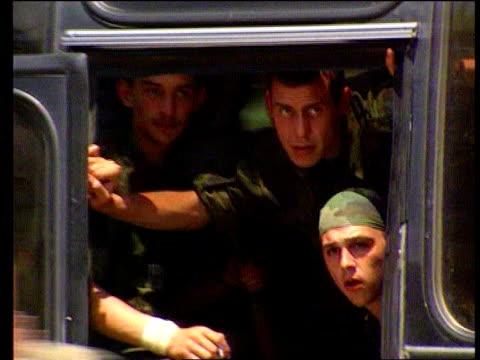stockvideo's en b-roll-footage met war crimes investigations lib serbia kosovo serb troops tanks withdrawing - kosovo