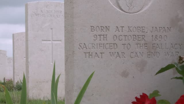 war graves dot the landscape around ypres the flemish city which will host eu leaders on thursday two days before the centenary of the outbreak of... - 一百週年紀念 個影片檔及 b 捲影像