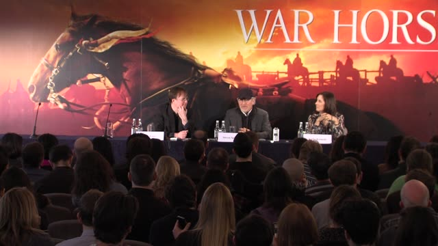 war horse press conference part one war horse press conference part one at claridge's hotel on january 09, 2012 in london, england - claridge's stock videos & royalty-free footage