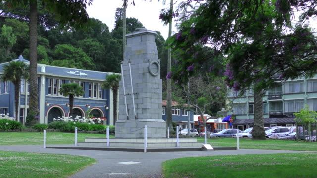 anzac war memorial - napier, new zealand - digital enhancement stock videos & royalty-free footage