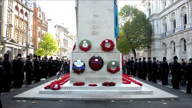 war veterans and members of the royal family took part in remembrance sunday events in central london sunday to commemorate servicemen and women who... - remembrance sunday stock videos & royalty-free footage
