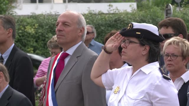 War veterans celebrate Belgian National Day at Sainte Adresse in France the town which sheltered the Belgium government during its wartime exile one...