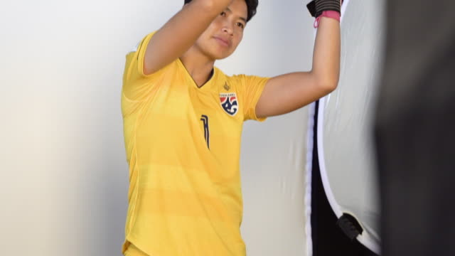 Waraporn Boonsing at FIFA Women's World Cup France 2019 Team Portrait Session on June 08 2019 in Reims
