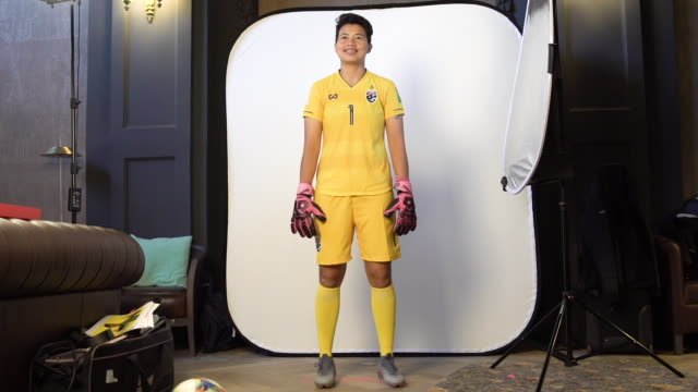 waraporn boonsing at fifa women's world cup france 2019 team portrait session on june 08 2019 in reims - fifa stock videos & royalty-free footage