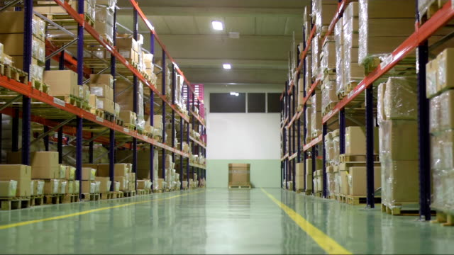 warehouse interior after work - warehouse stock videos and b-roll footage