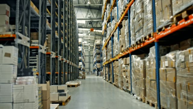 warehouse logistic center - storage compartment stock videos and b-roll footage